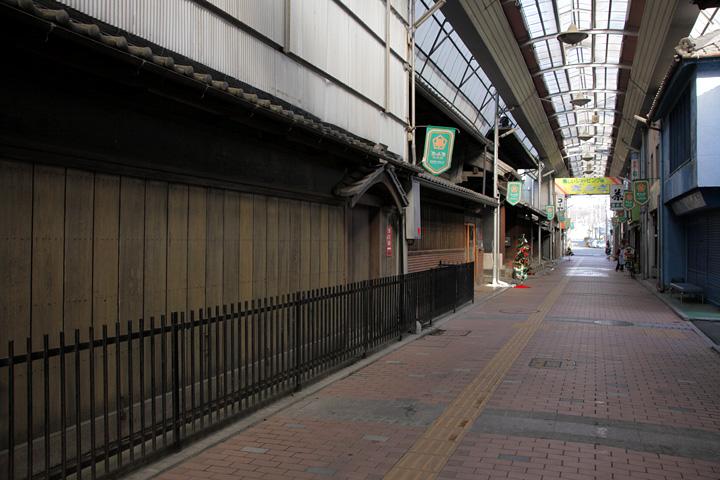 多治見国長公遺址のある新町「ぎんざ商店街」