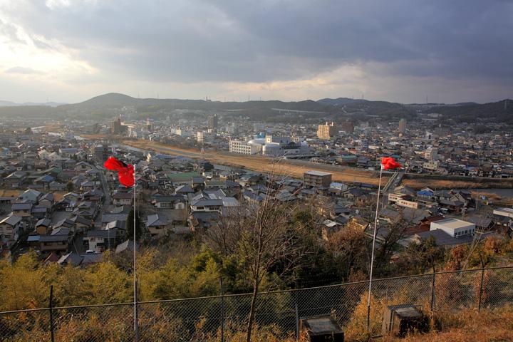 高山城跡展望台からの風景