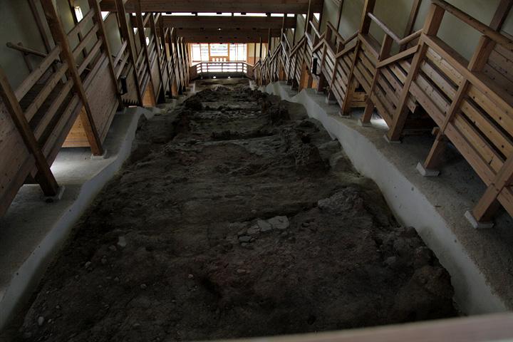 上から見た元屋敷陶器窯跡