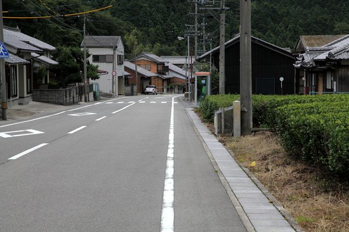 坂下宿大竹屋本陣跡方面