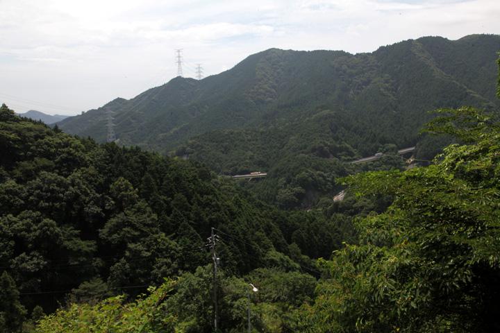 坂の途中かた見た風景