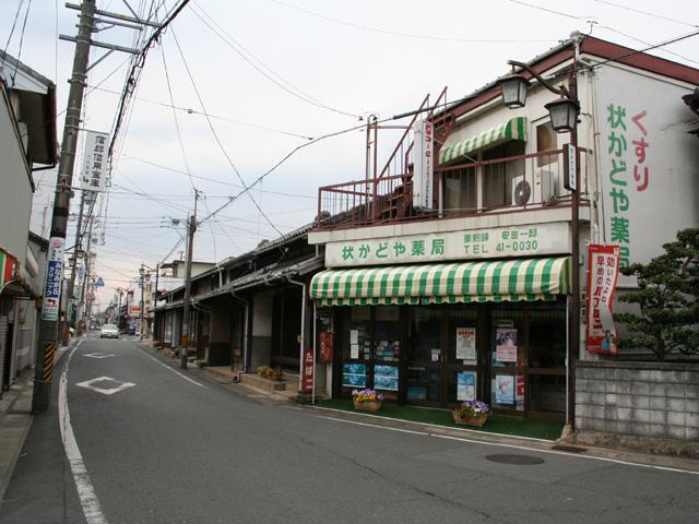 二川宿東入口付近の東海道