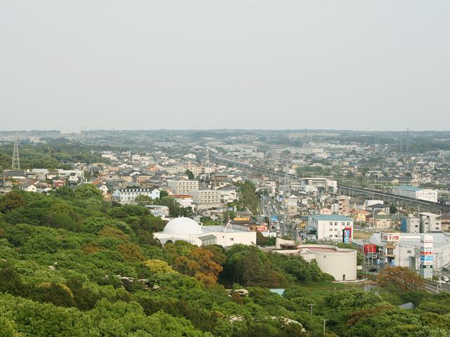 岩屋観音山頂から見た二川宿