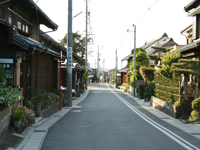 本宿の街道風景