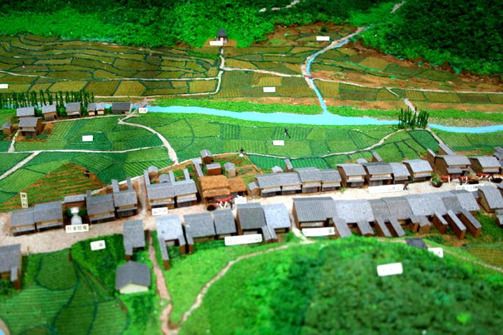 藤川宿中心部模型