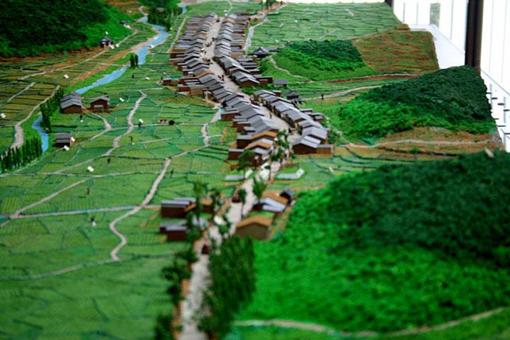 藤川宿模型