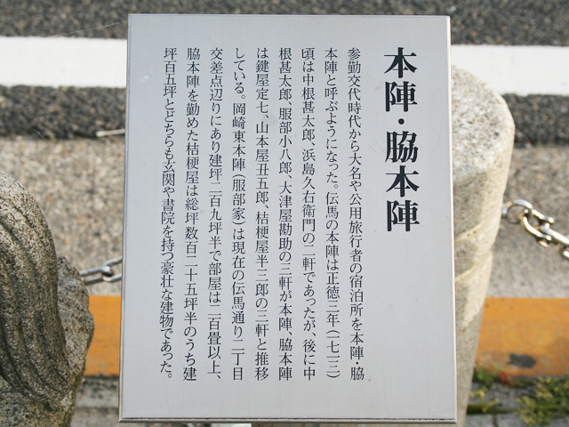 本陣・脇本陣跡の解説