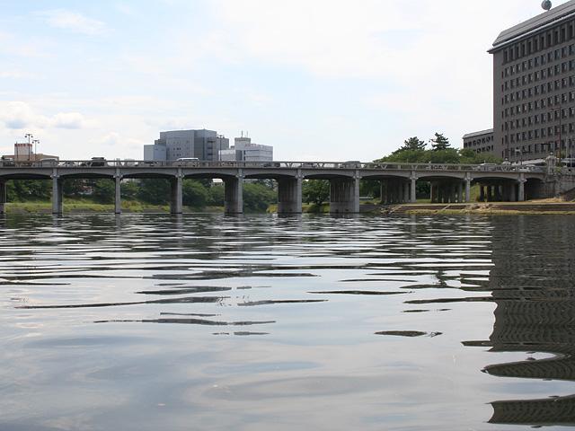 花火大会会場の乙川河畔