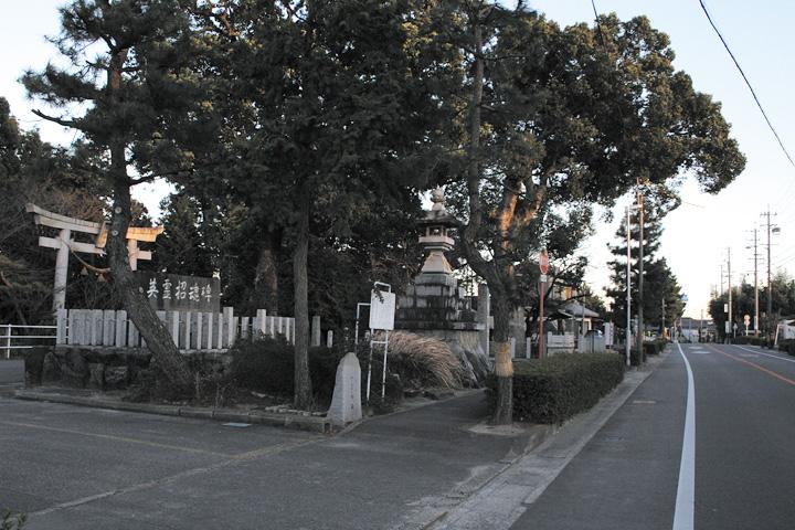 尾崎一里塚跡と熊野神社