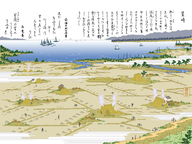 星崎 - 江戸時代には塩田事業が行われ、塩付街道で運ばれた