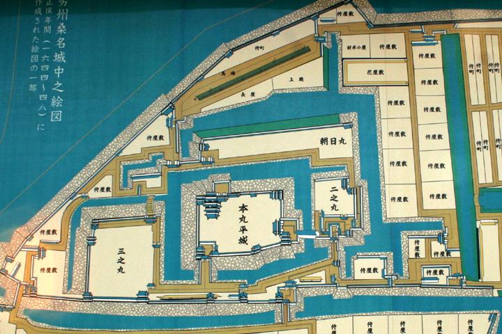 桑名城郭図