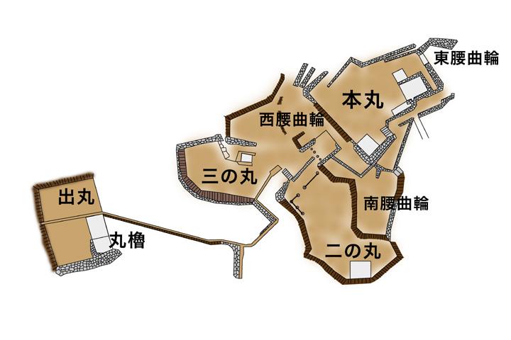 金山城略図
