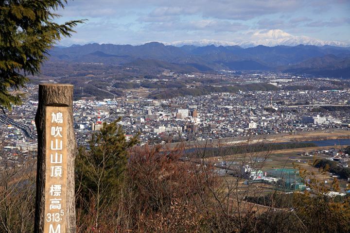 鳩吹山山頂から見た美濃加茂市方面