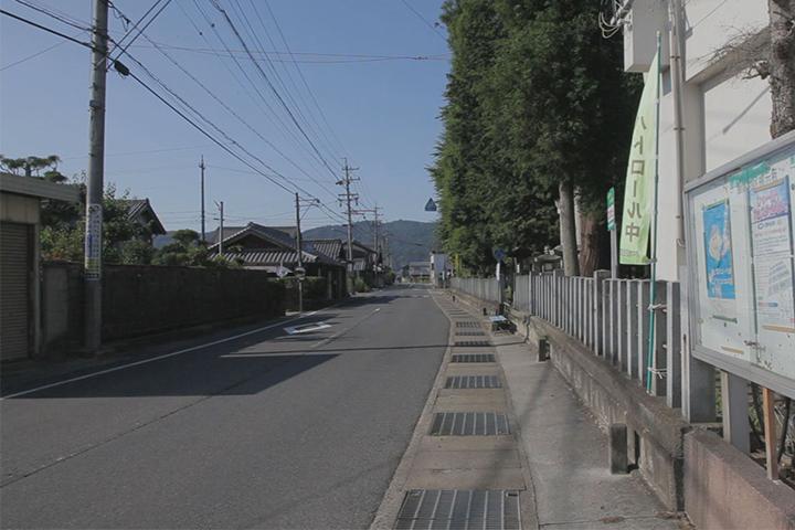 小宮神社前の大和街道