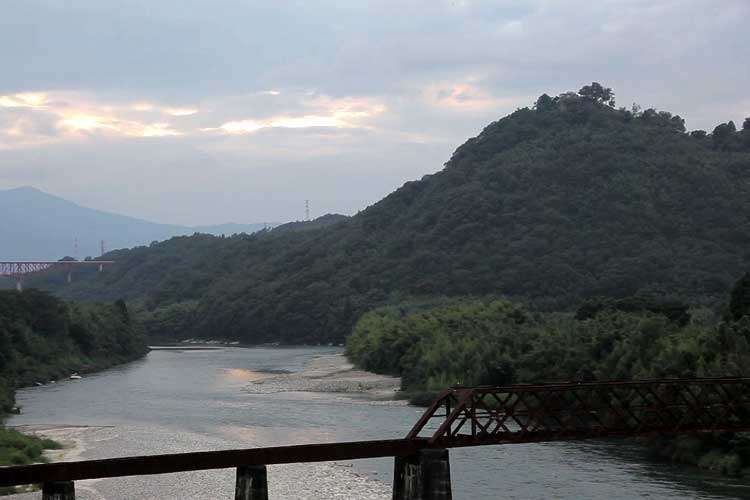 苗木城と木曽川