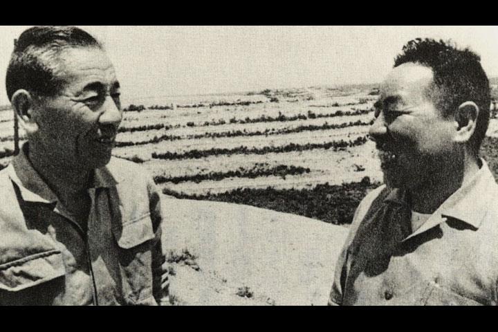 愛知用水建設に尽力した 久野庄太郎氏と浜島辰雄氏 提供:浜島辰雄氏
