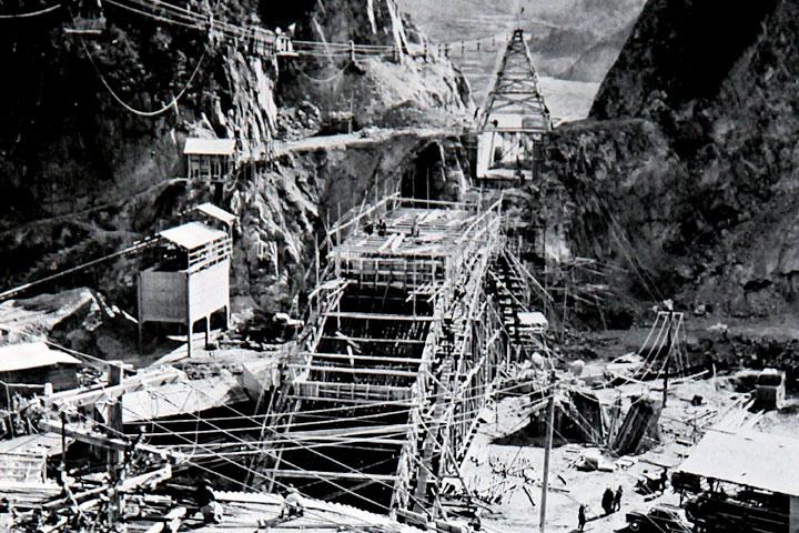 入鹿水路橋工事 提供:愛知用水総合管理所