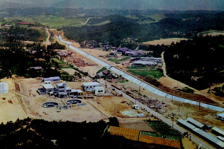 旭浄水場付近  提供:愛知用水総合管理所