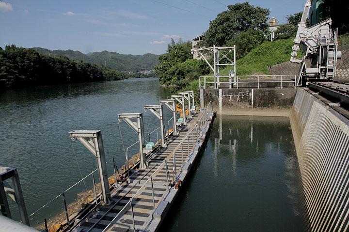 現在の兼山取水口 木曽川から取水