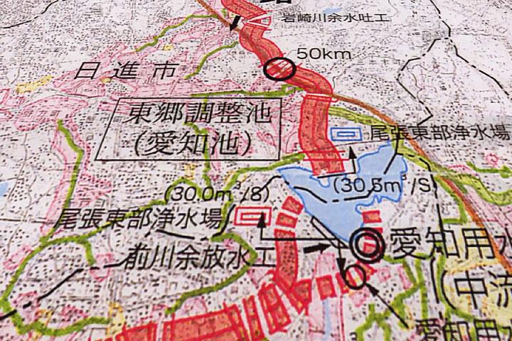 東郷調整池付近地図