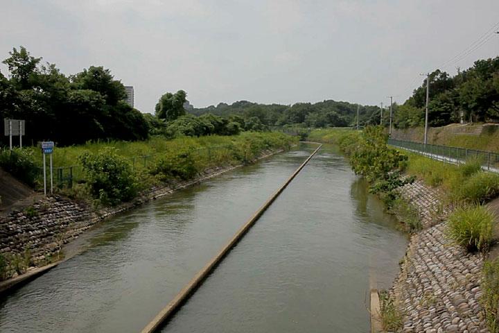 東郷町を流れる愛知用水開水路