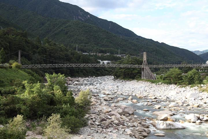 桃介橋(南木曽町読書)
