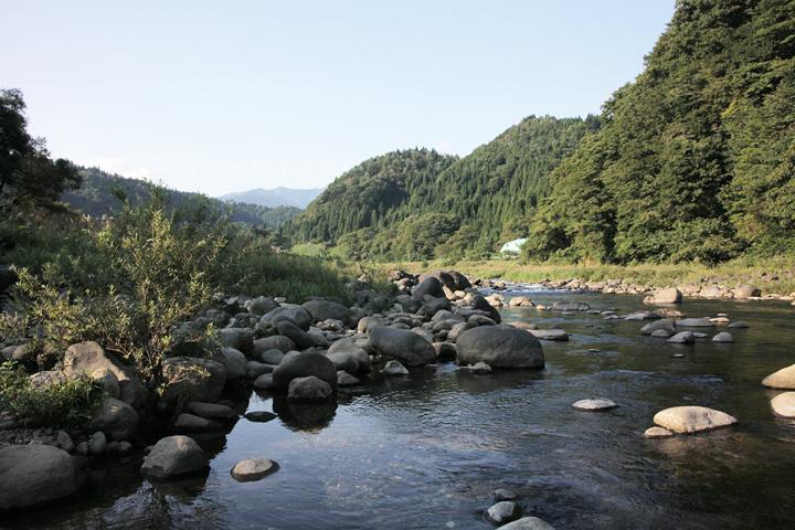 長滝神社付近画面中央に大日ケ岳