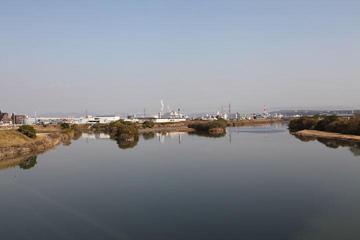 庄内川に合流