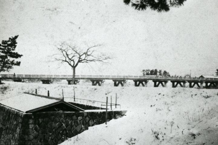 昭和11年頃の三階橋 提供:名古屋市北区役所