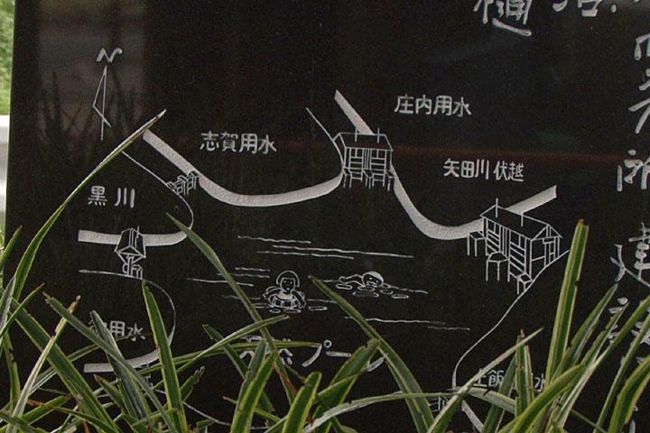 天然プールの碑