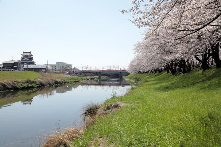 清須城と五条川