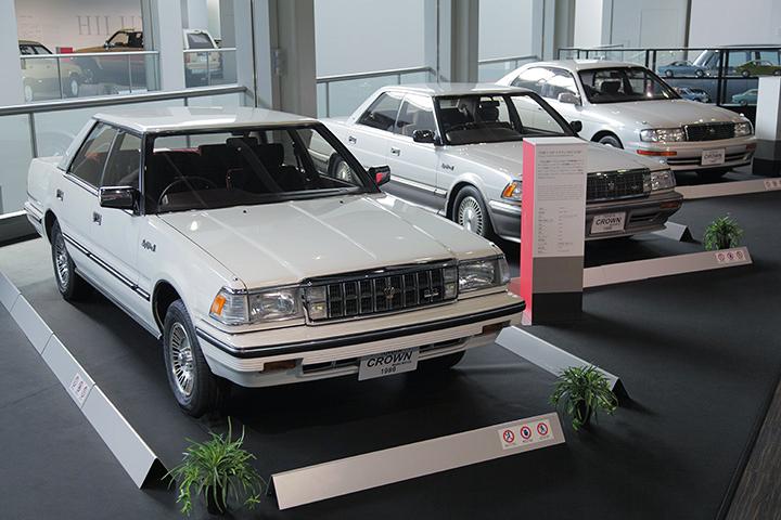 7代目トヨタ クラウン MS125型 1986(写真左)