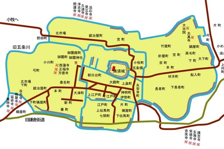 清洲城下図(1600年頃)