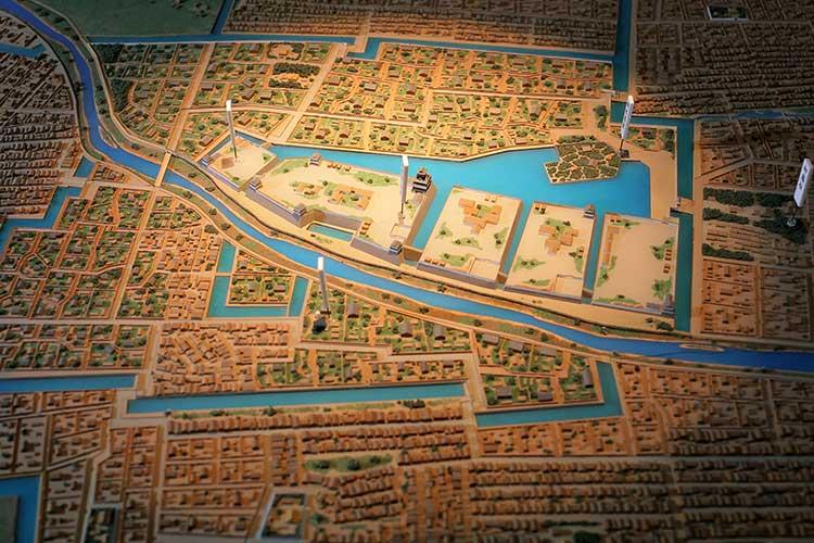 清洲城ジオラマ(清須城内展示)