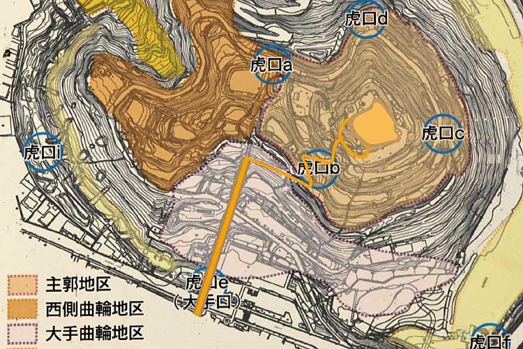 小牧山城地区区分図