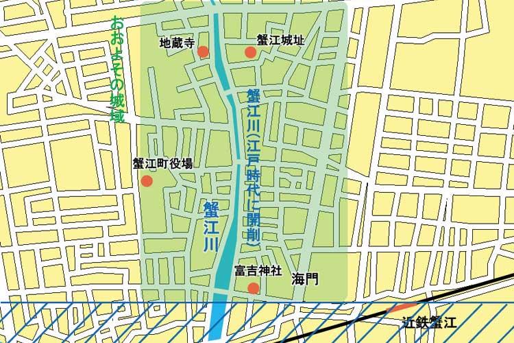 蟹江城郭略図