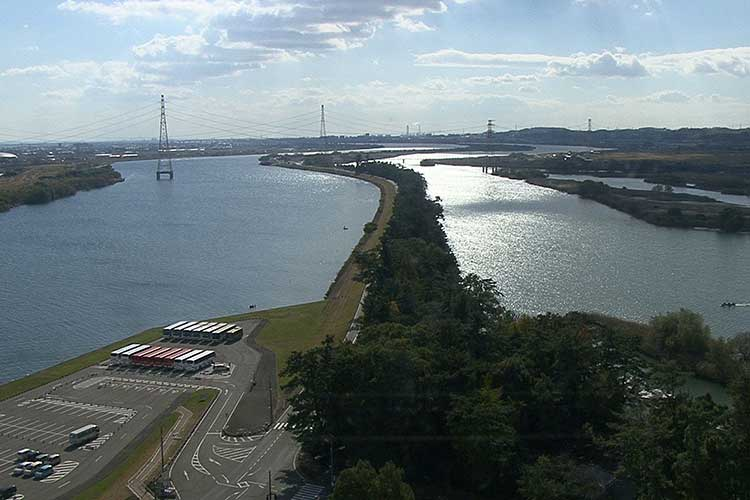 長良川と揖斐川(河口付近)