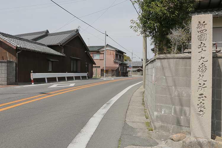 玉泉寺付近の知多街道