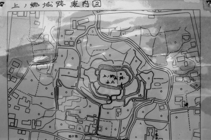 上の郷城跡案内図