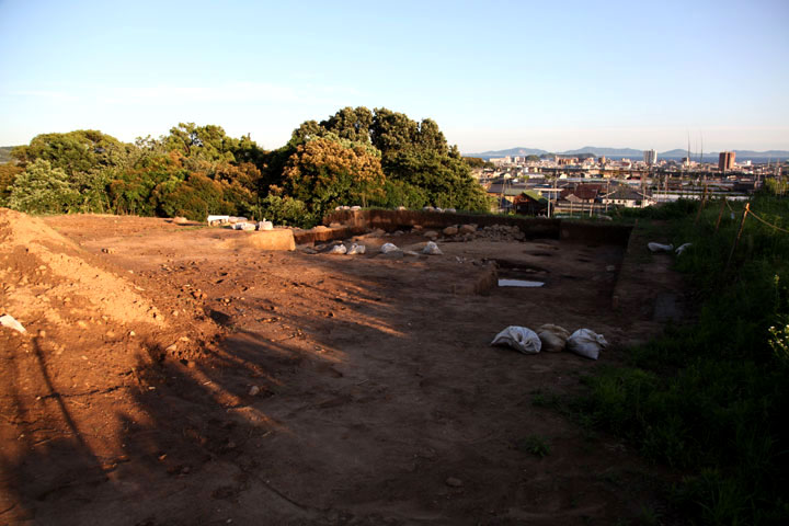 上の郷城跡発掘現場