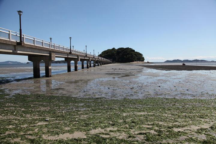干潮時の竹島