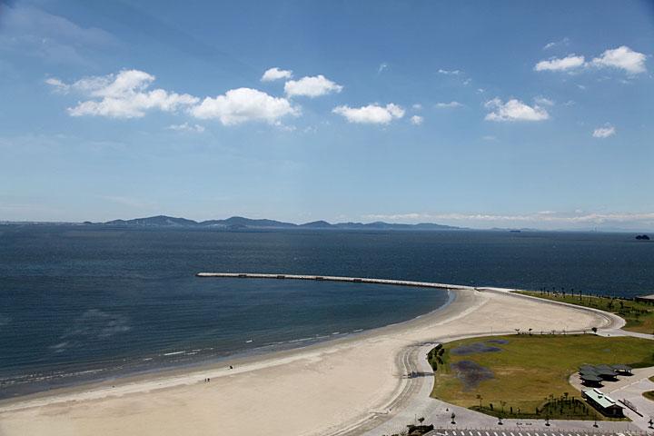 佐久島が見える