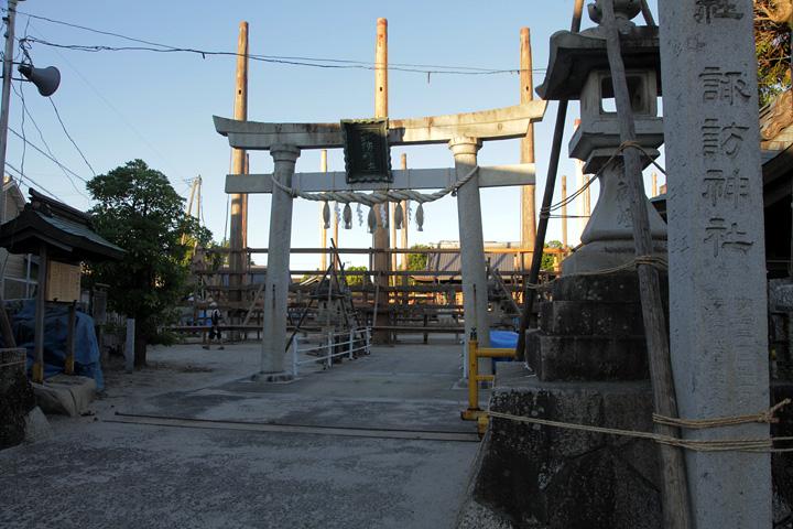 午前6時 諏訪神社