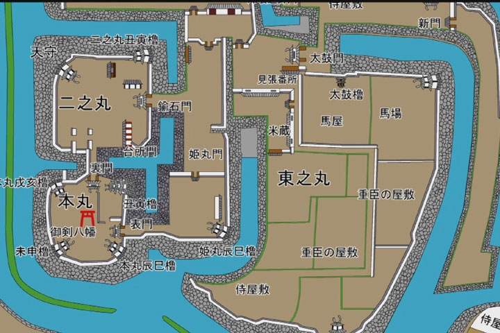 西尾城郭図