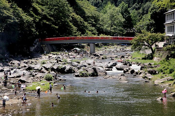 真夏の香嵐渓