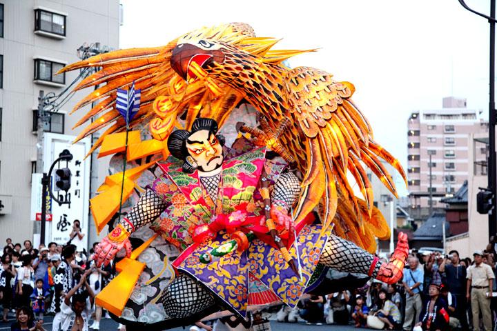 怪鳥を射る弓の名手を描いた万燈(新栄町)