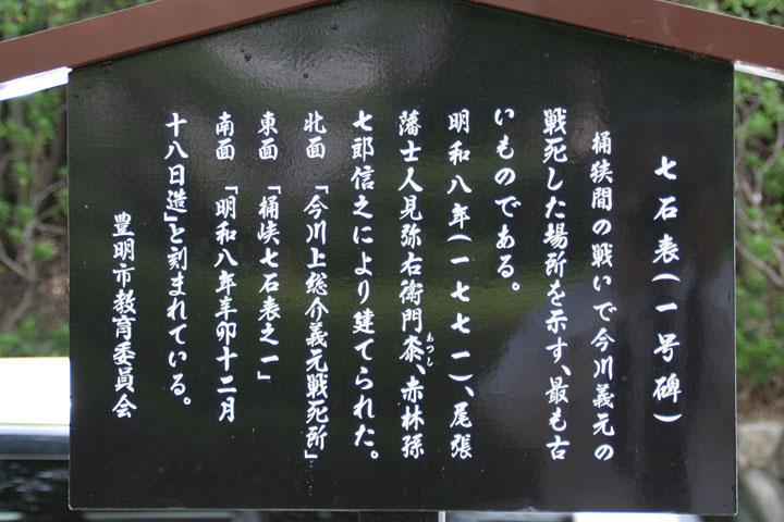 七石表(一号碑)解説