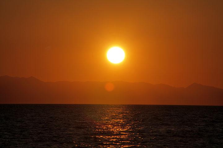 大野海岸の日没