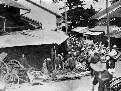 1900年代初頭の西枇杷島青果問屋