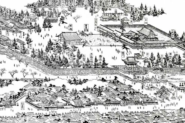 津島神社(尾張名所図会)